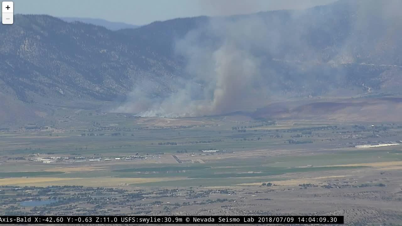 Nevada Wildfire Now 57 Miles Long 31 Miles Wide