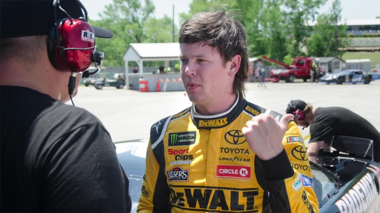 Fresh off his first NASCAR Cup victory, Erik Jones headed for the Slinger Nationals, a race he nearly won in 2016 in his Slinger Speedway debut.