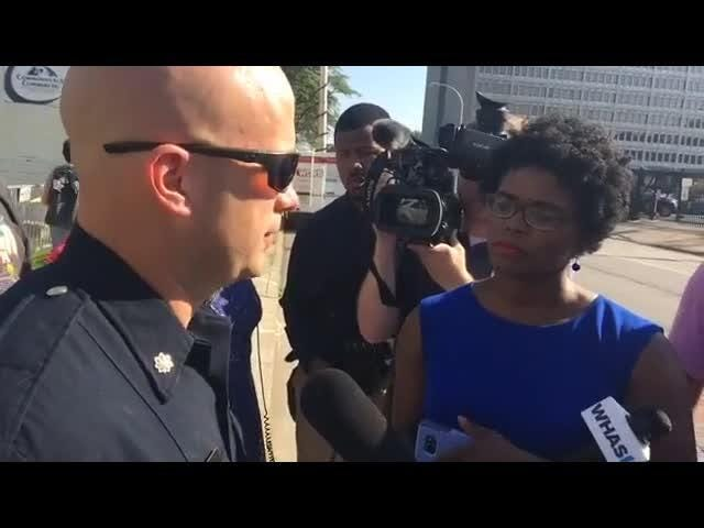 LMPD and Public Works visit Occupy ICE camp about possible ordinance violations