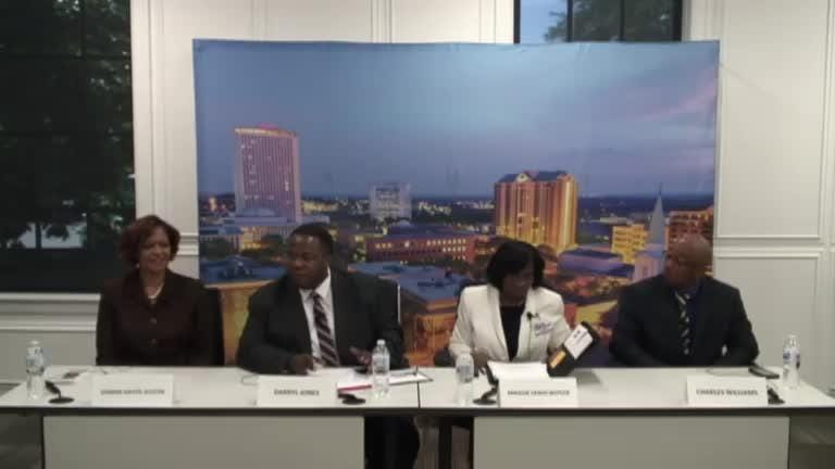 Interviews with Editorial Board:  Leon County School Board, District 3 - Donna Hayes-Austin, Darryl Jones, Maggie Lewis-Butler and Charles Williams.