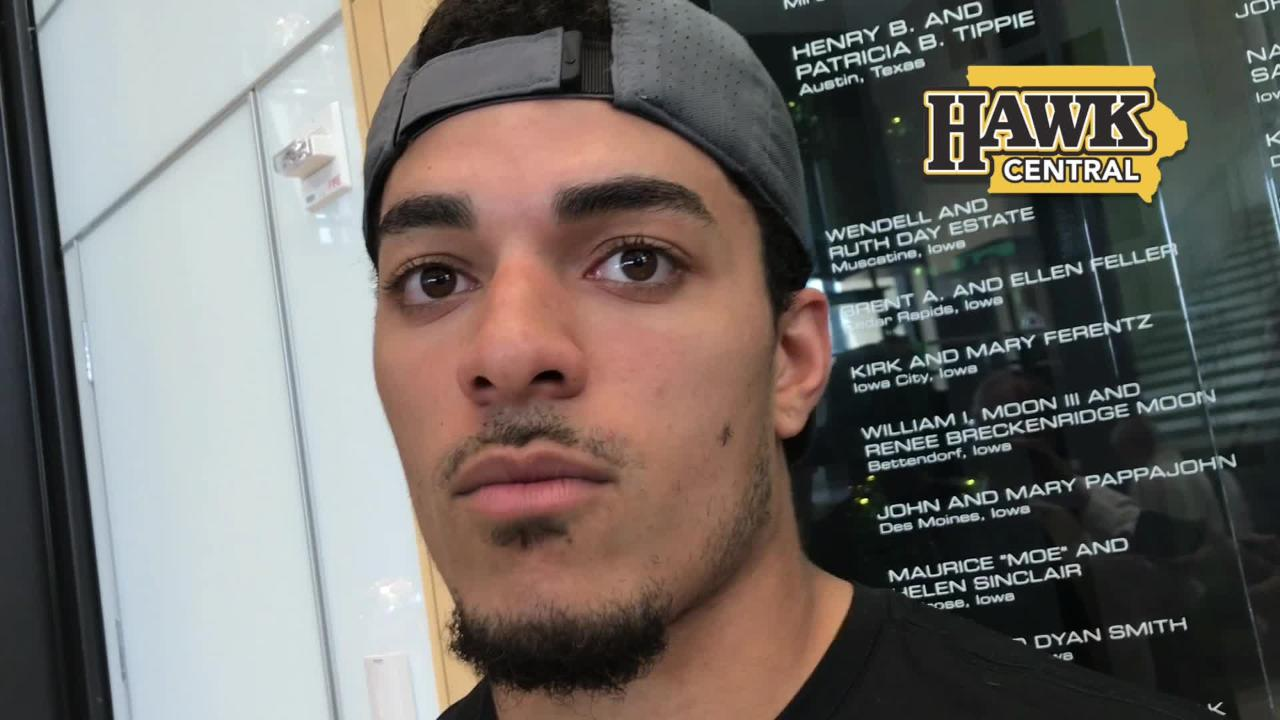 Amani Hooker and Jack Gervase are Iowa safeties who even like to compete with each other. Hear more: