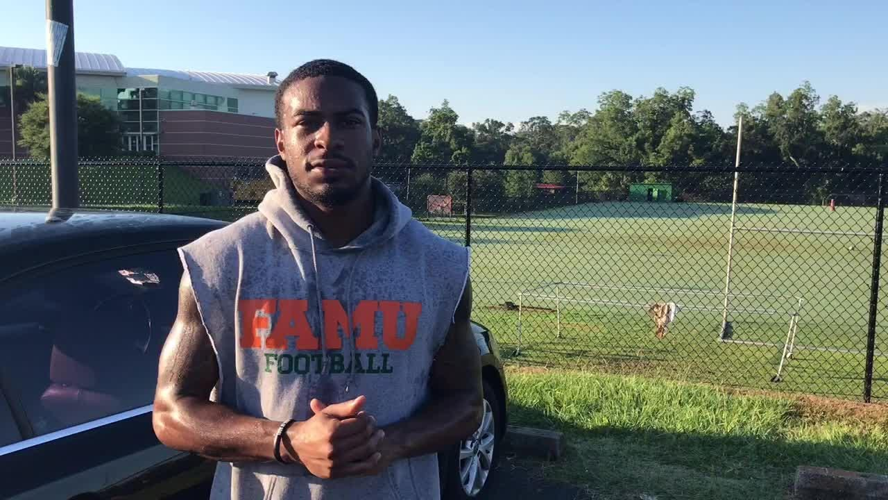 WATCH: FAMU CB Ty Woodley breaks talks speed workout drills and how it will upgrade his performance this season