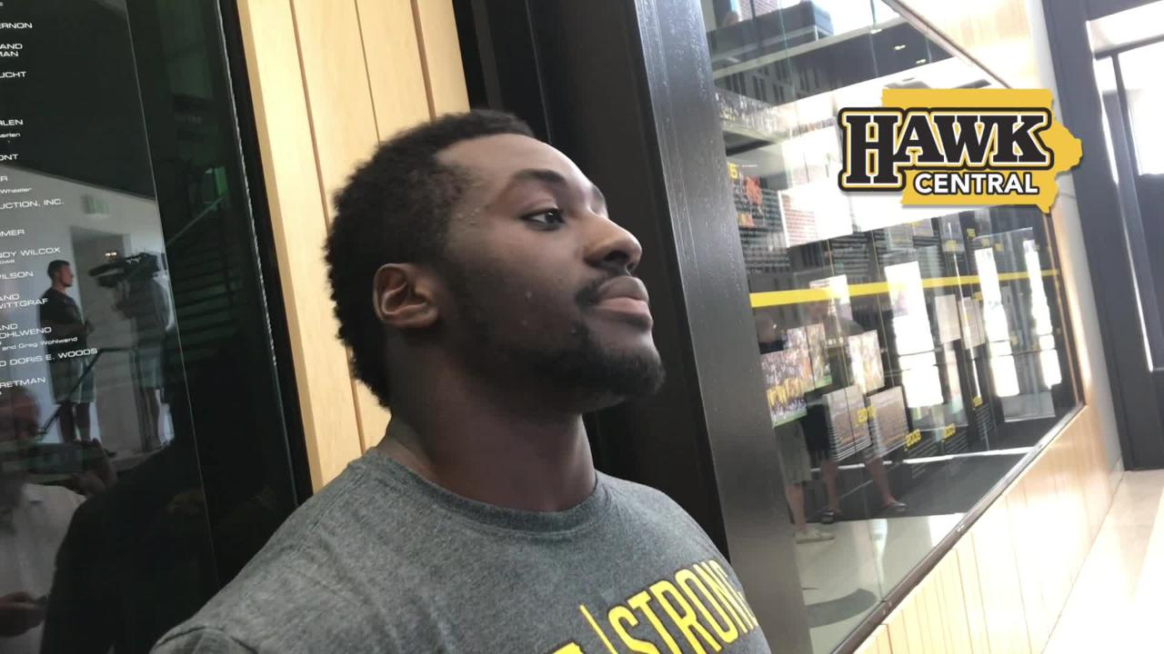 Iowa middle linebacker Amani Jones explains why 'the guy' has been replaced by 'the unit' this season