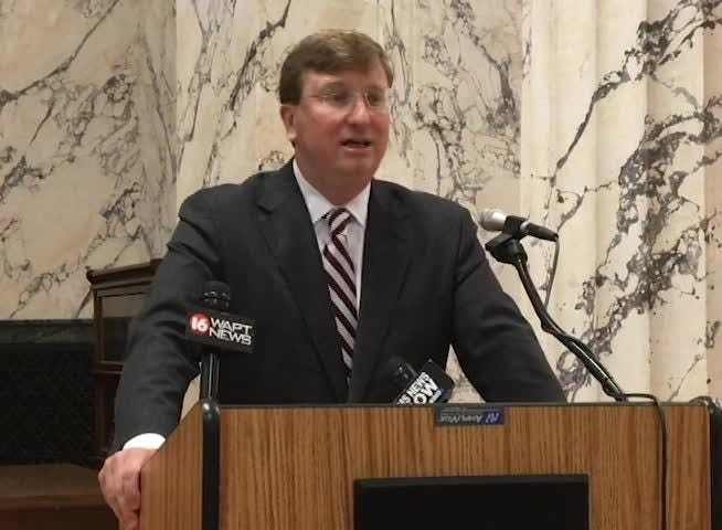 Lt  Gov  Tate Reeves news conference