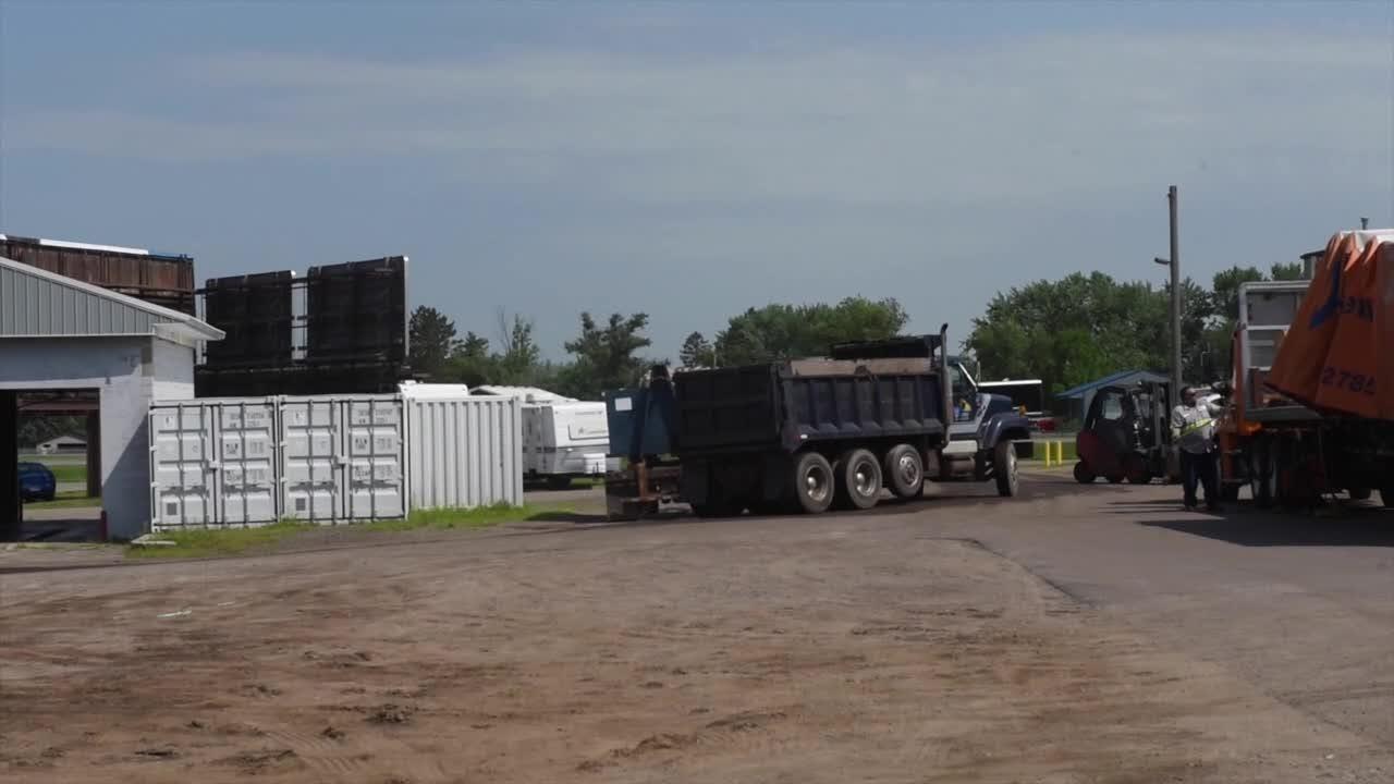 Hundreds of truckloads of bog material removed from Linneman Lake
