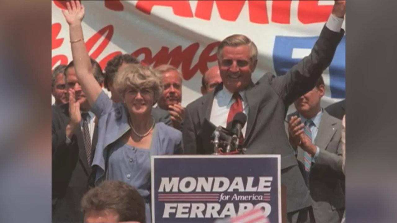 Throwback Thursday: On this day in 1984, Walter Mondale taps Geraldine Ferraro as the first woman to run on a major party ticket for the White House