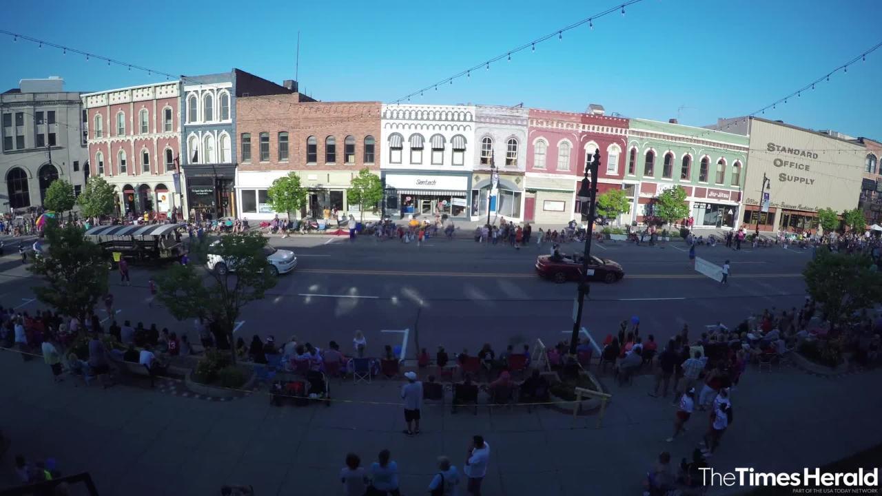 The Rotary International Day Parade was held Wednesday night in downtown Port Huron.