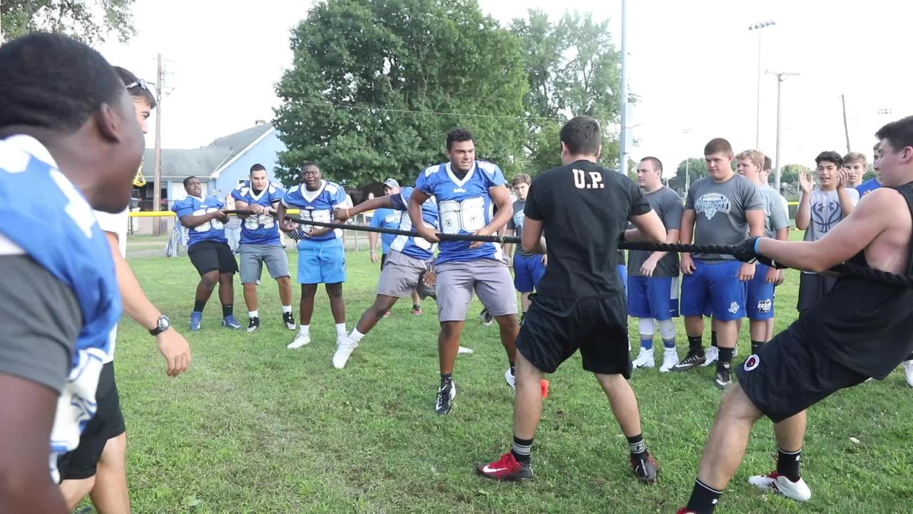 Passaic County Tech wins the tug of war at the Linemen's Challenge
