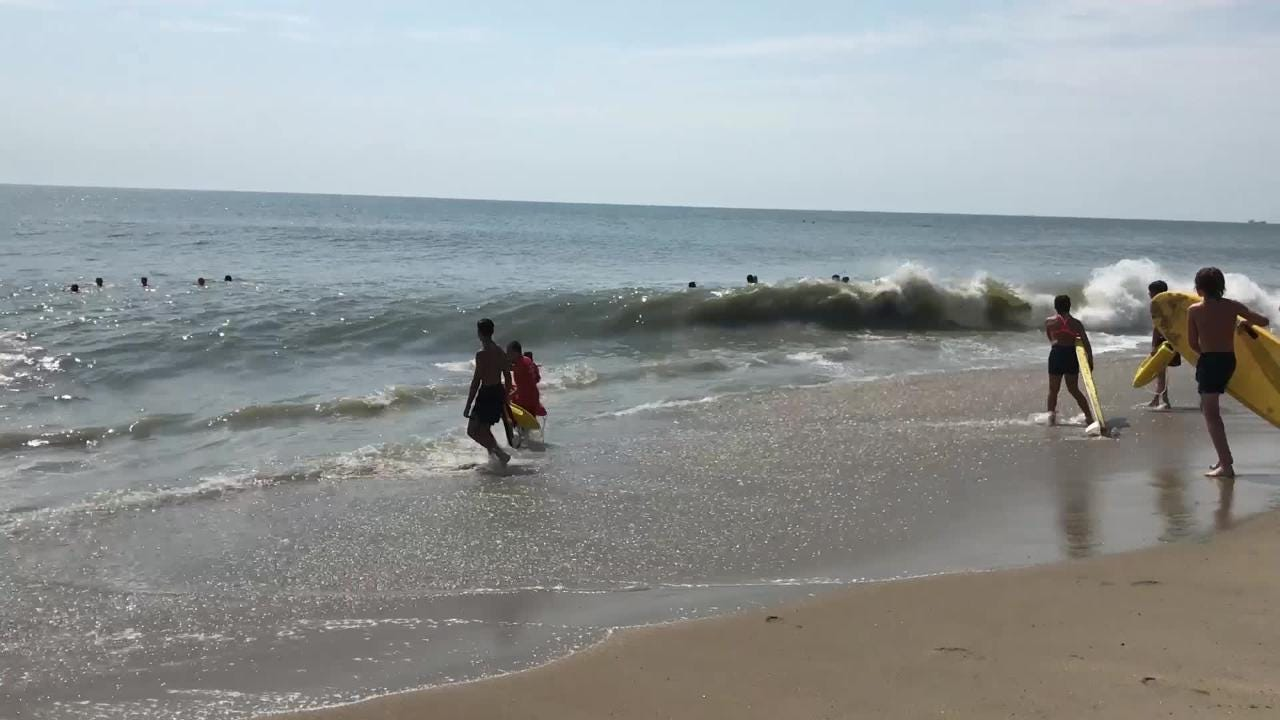 Bethany Beach lifeguard captain Joe Donnelly talks about common dangers to watch out for on the beach, including rip currents and heat.