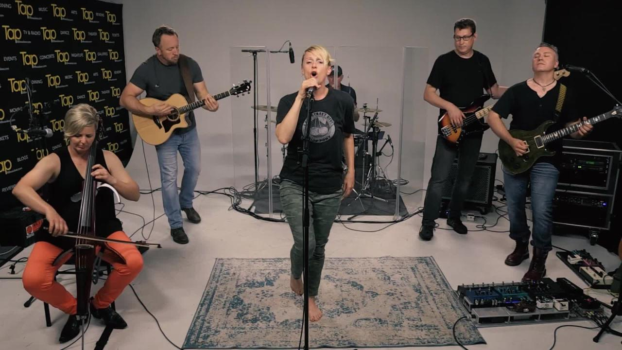 The band Well-Known Strangers performs 'sidewalk' in the Tap Milwaukee studios.