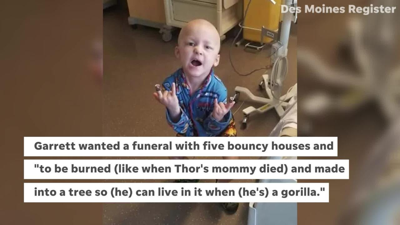 The 5-year-old from Van Meter, Iowa, died July 6 after battling cancer since September 2017.