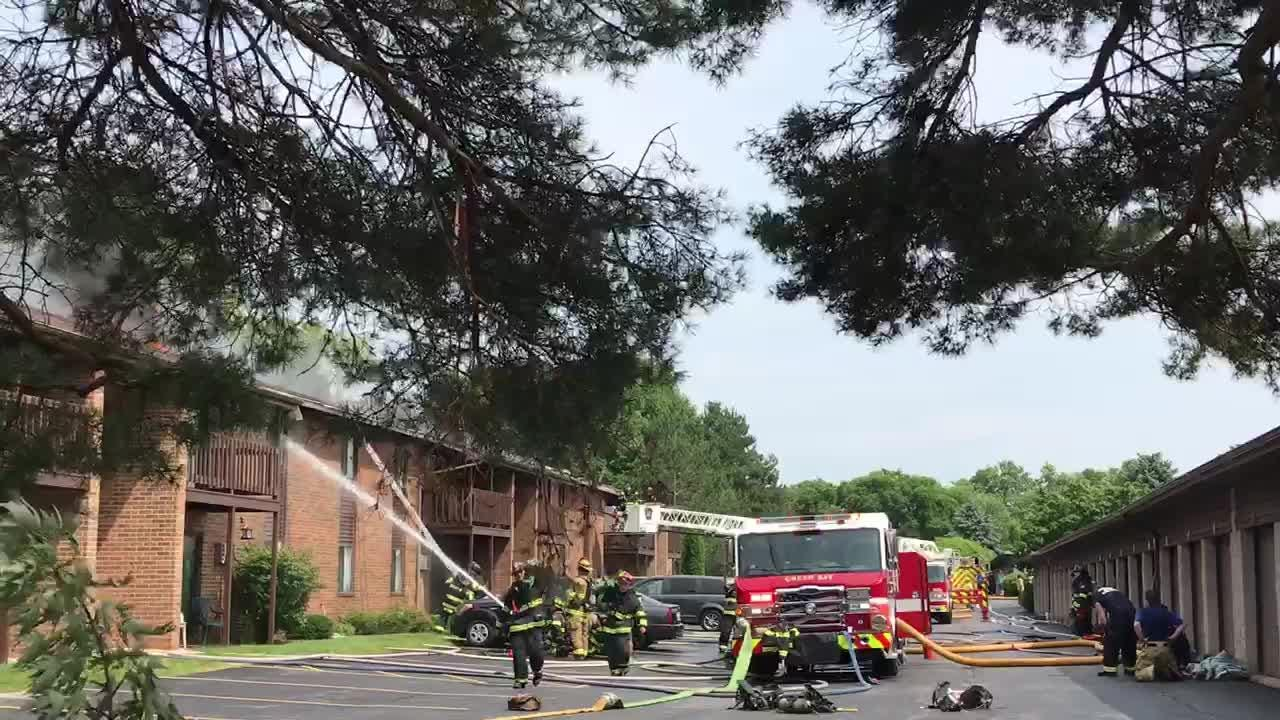 Firefighters were called Thursday afternoon to an apartment fire on South Fisk St.