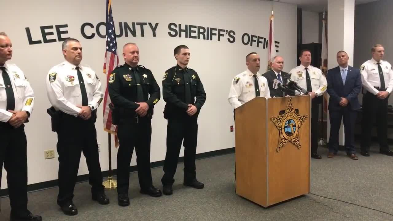 At a July 12, 2018 news conference, Lee County Undersheriff Carmine Marceno discussed the Lehigh Acres shooting that left a man dead.