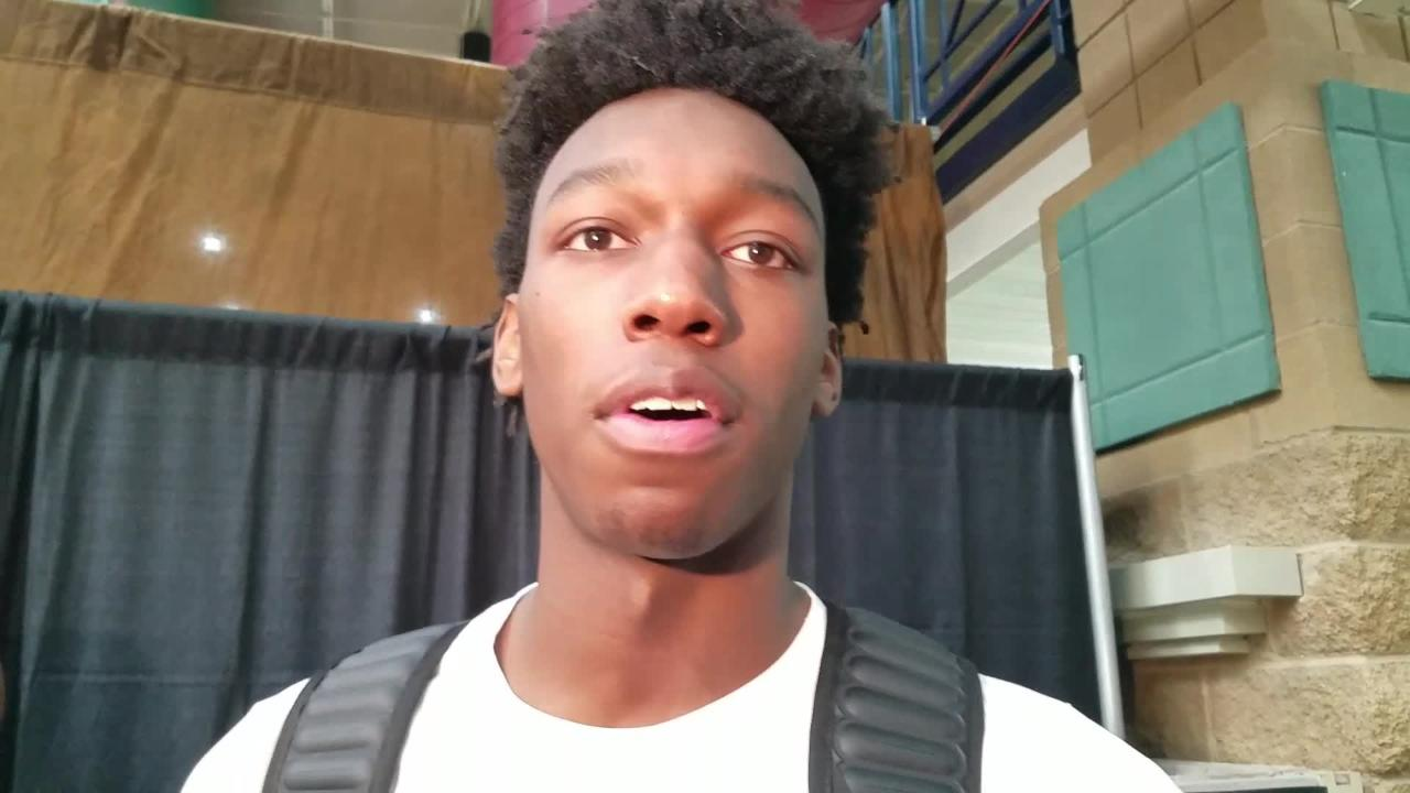 The East High star and No. 1 recruit in the country gives reporters an updated timeline on his recruiting process at Peach Jam.