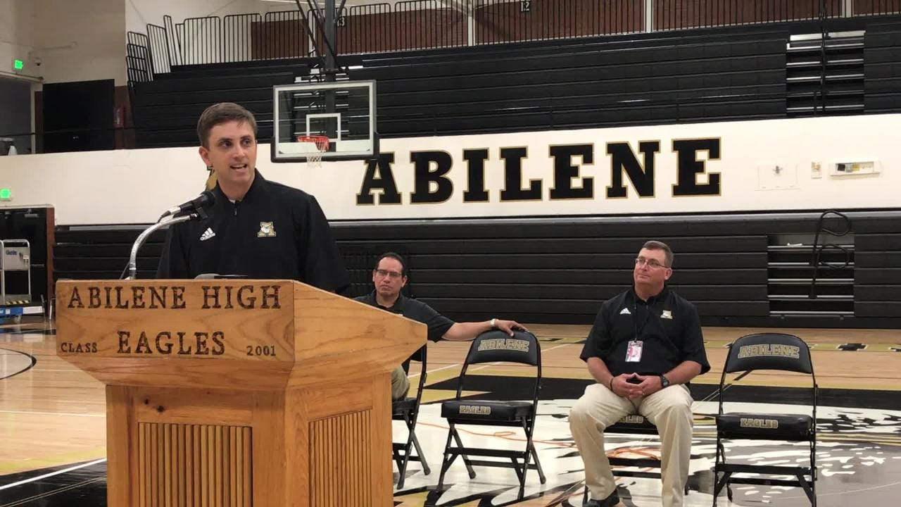 Abilene High School held a press conference to announce Justin Reese as the Eagles new basketball coach Thursday afternoon.