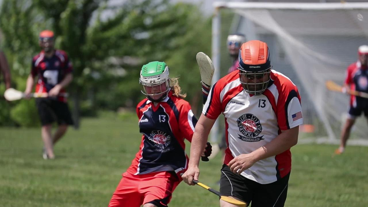Peter Leitermann, of Little Chute, his two  daughters, 13 and 15 years old, all compete with the Fox River Hurling Club located in the Fox Cities.