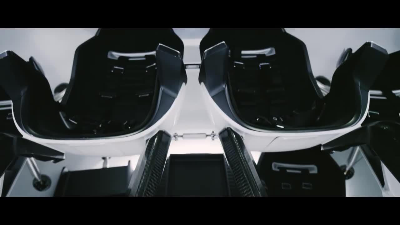 The interior of SpaceX's Crew Dragon spacecraft is seen in this video released by the company.
