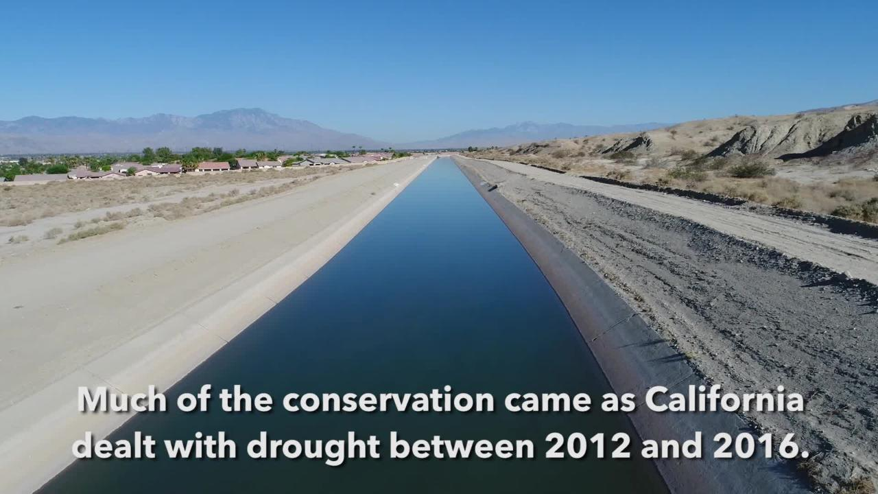 Drone footage explaining the Coachella Valley's water usage