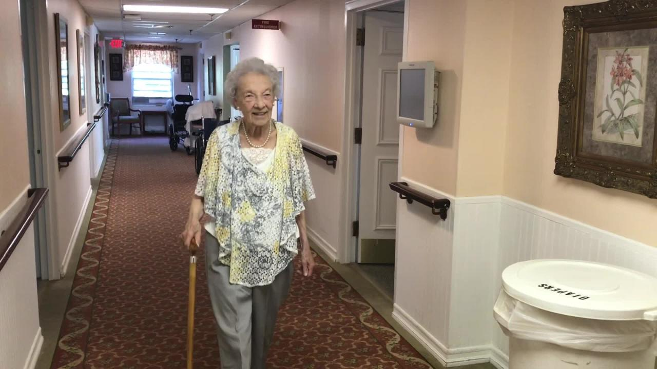 Anne Williams, 96, has volunteered at Van Dyk Manor, a Montclair nursing home, for 29 years.