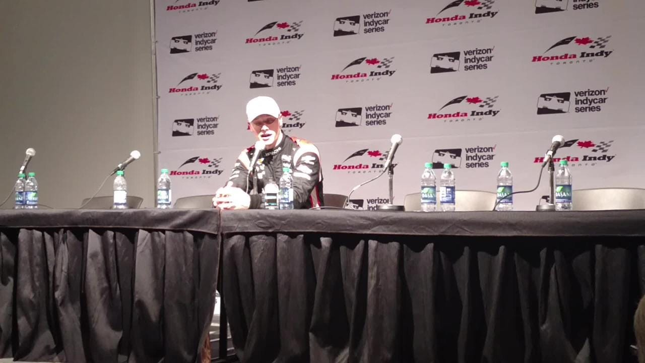 Team Penske's Josef Newgarden talks about the risky decision he made in his pursuit of pole position for Sunday's Honda Indy Toronto