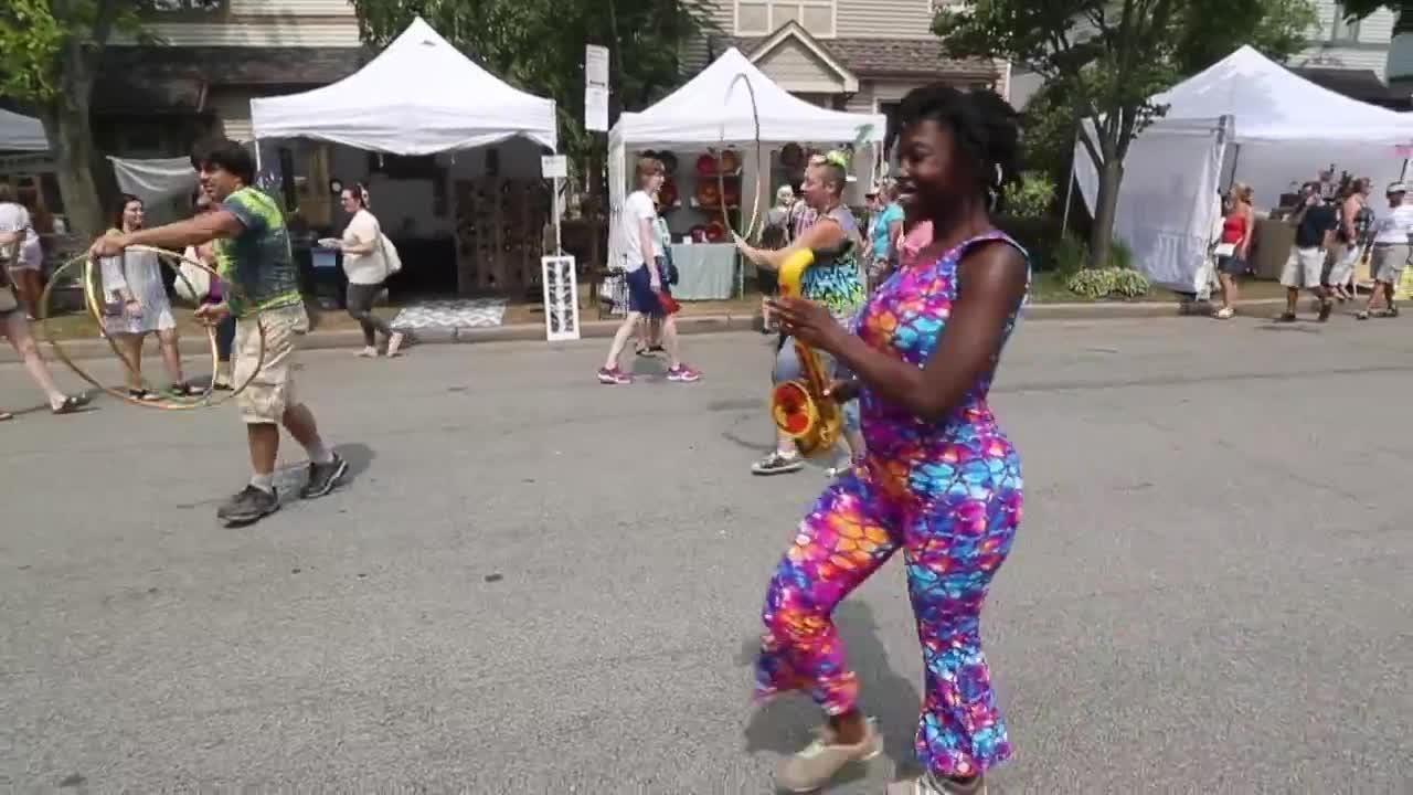 A look at the streets downtown as the Cornhill Arts Festival celebrates its 50th anniversary.