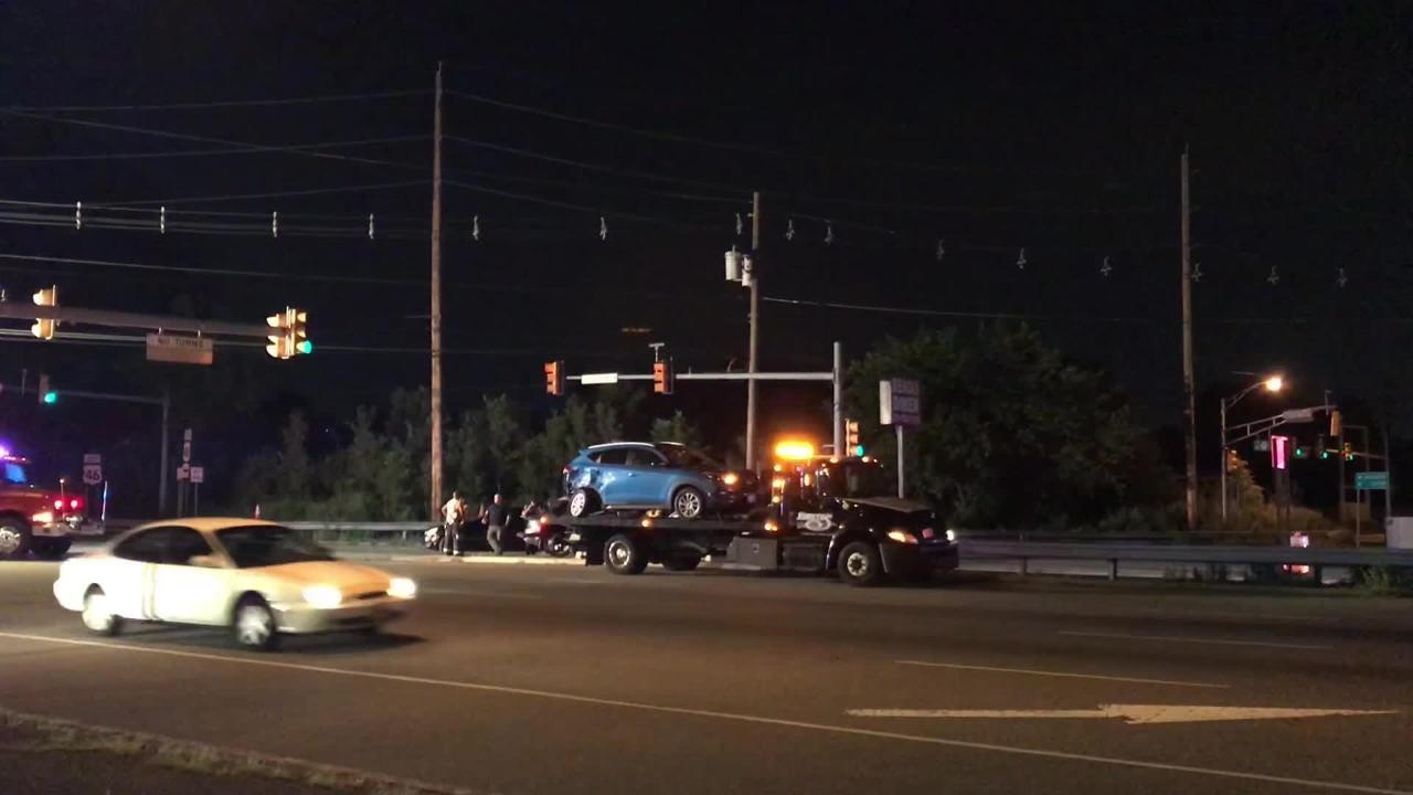 A Saturday accident shut two lanes on Route 17 in Hasbrouck Heights .