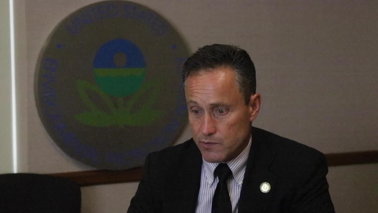 EPA Director Peter Lopez discusses Pompton Lakes