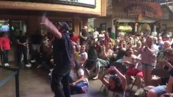 Fans at World Cup watch party cheer after goal