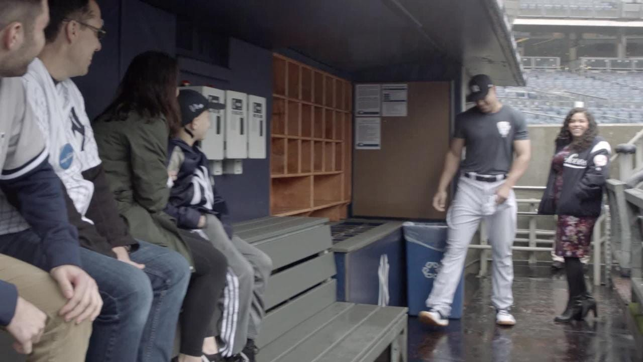 Luca Iacono, a 9-year-old from Middletown battling cancer, spent a day with Yankees stars Aaron Judge and Didi Gregorious through the Make-A-Wish Foundation. Video courtesy of ESPN.