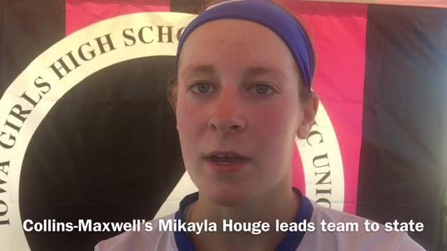 Mikayla Houge threw a four-hitter to lead Collins-Maxwell a state softball win.