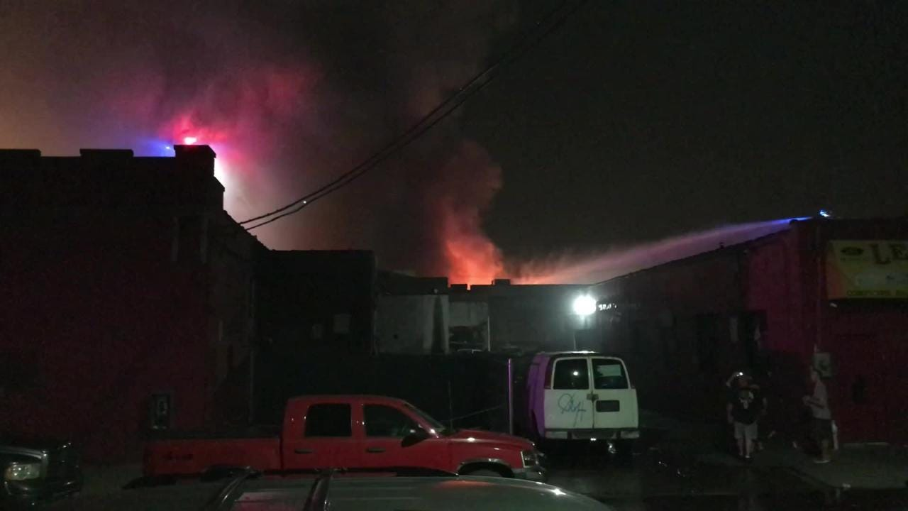 Several businesses were damaged in a fire late Monday night in Passaic.