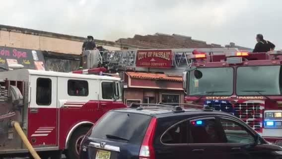 Raw video: Firefighters remove part of building