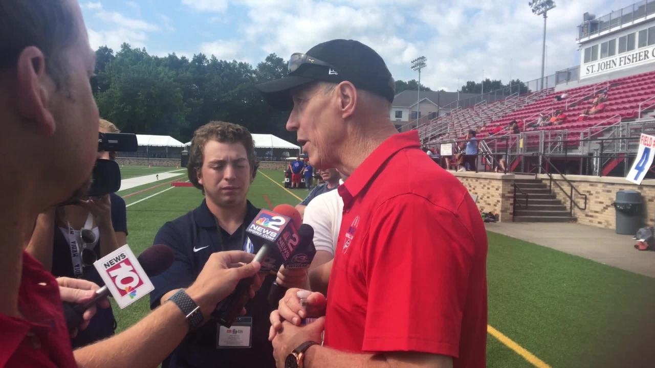 Buffalo Bills legend Jim Kelly speaks about receiving the Jimmy V award as the ESPYs.