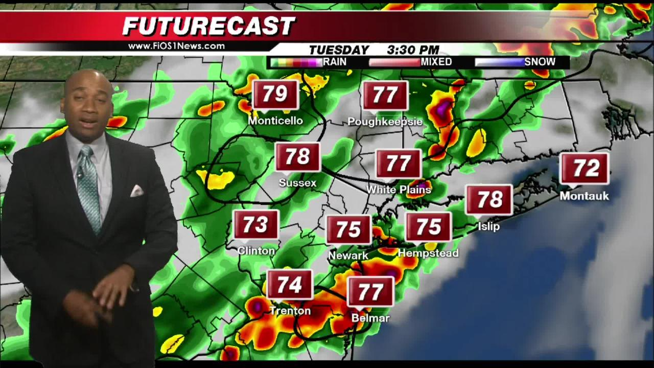 The storm forecast for Hudson Valley from FIOS1 News.