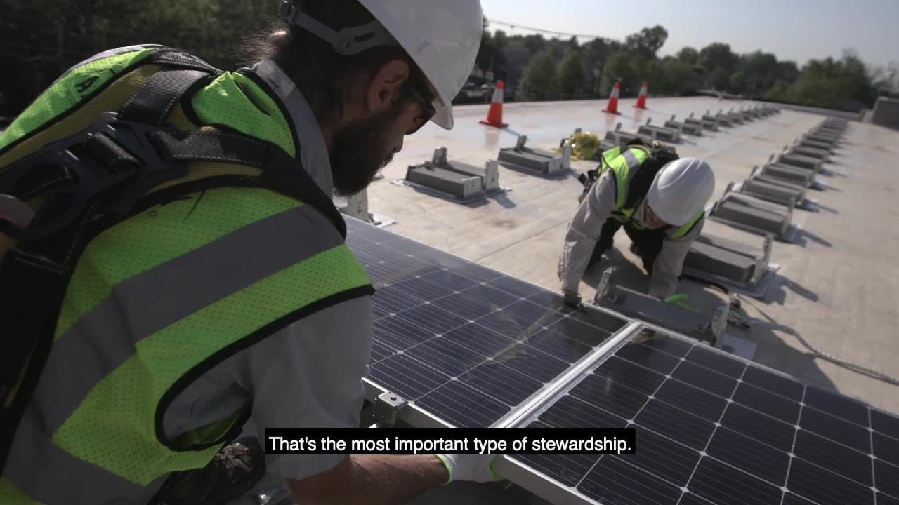 New solar array makes historical debut