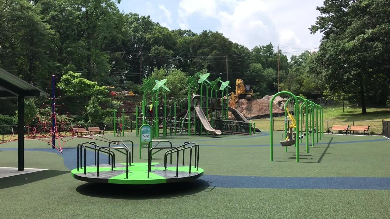 Essex County reopens Yanticaw Park's Frank A. Cocchiola Playground in Nutley.