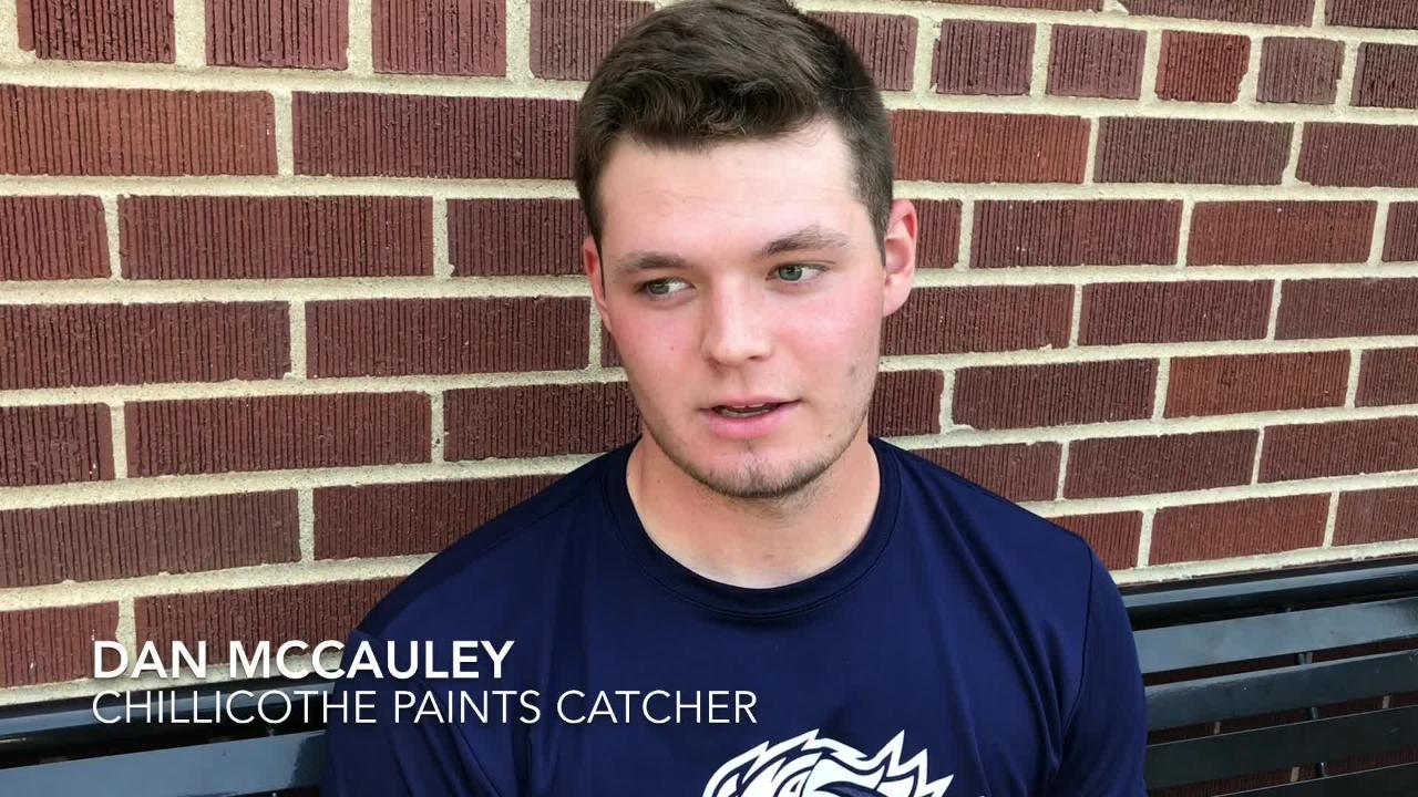 The Chillicothe Paints have interacted with the community all season. Catcher Dan McCauley talks of the time he has spent with the community.