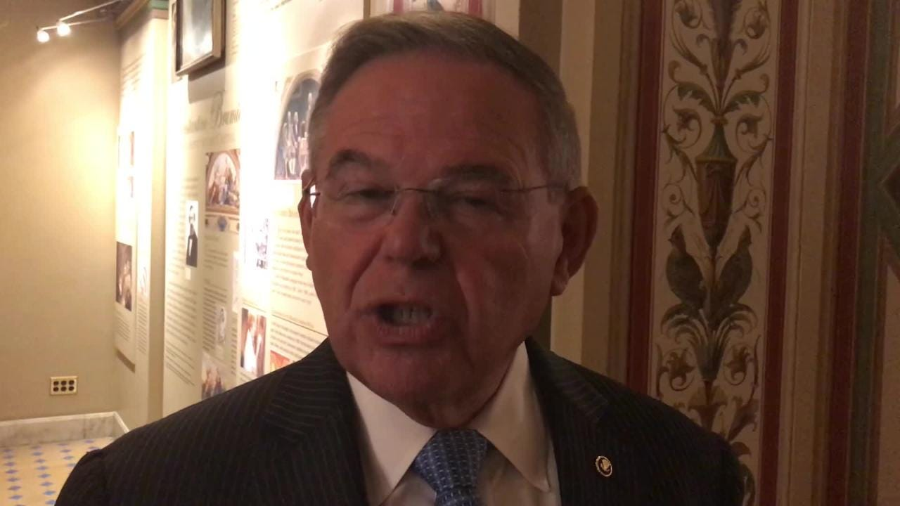 The top Democrat on the Senate Foreign Relations Committee, Sen. Bob Menendez of New Jersey says in July 17, 2018 interview that President Trump's private meeting with Russian President Vladimir Putin raises questions about national security.
