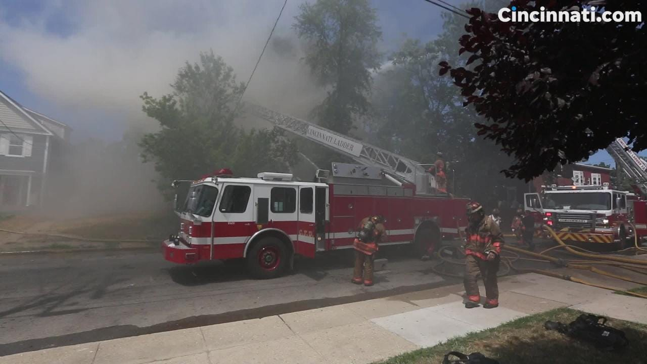 Firefighters were called to a house fire on July 17, 2018 in Evanston.