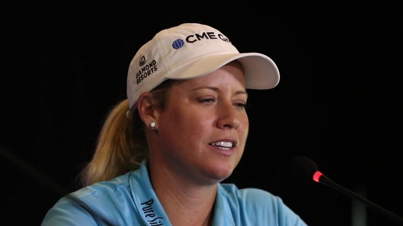 'I can't stop smiling' says 8-time LPGA winner. Brittany Lincicome, nicknamed 'Bam Bam' for her driving power, plays Thursday in Nicholasville.