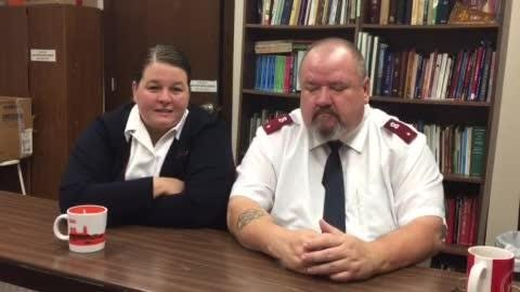 Stacy and Shaun McNeil talk about what it's like working together as commanding officers in the Salvation Army.