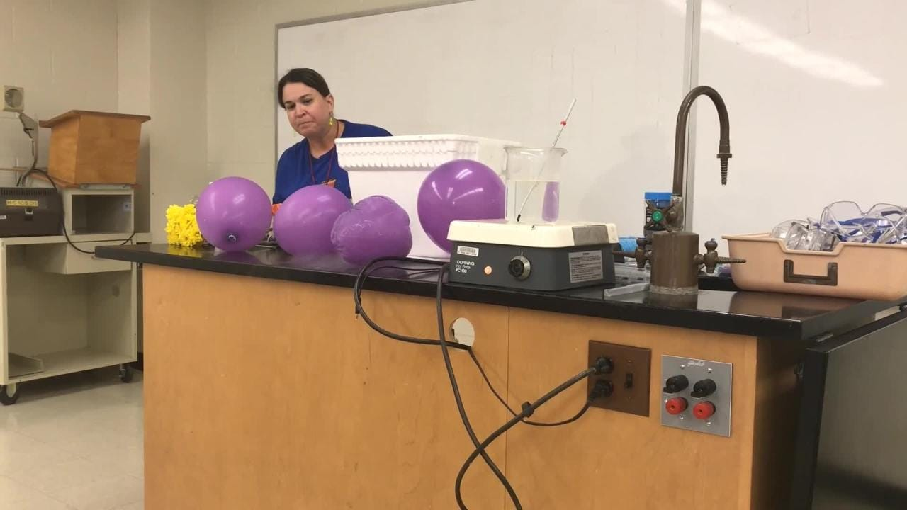 Abilene is playing host to Texas chemistry teachers, some of whom played a bit with liquid nitrogen Tuesday