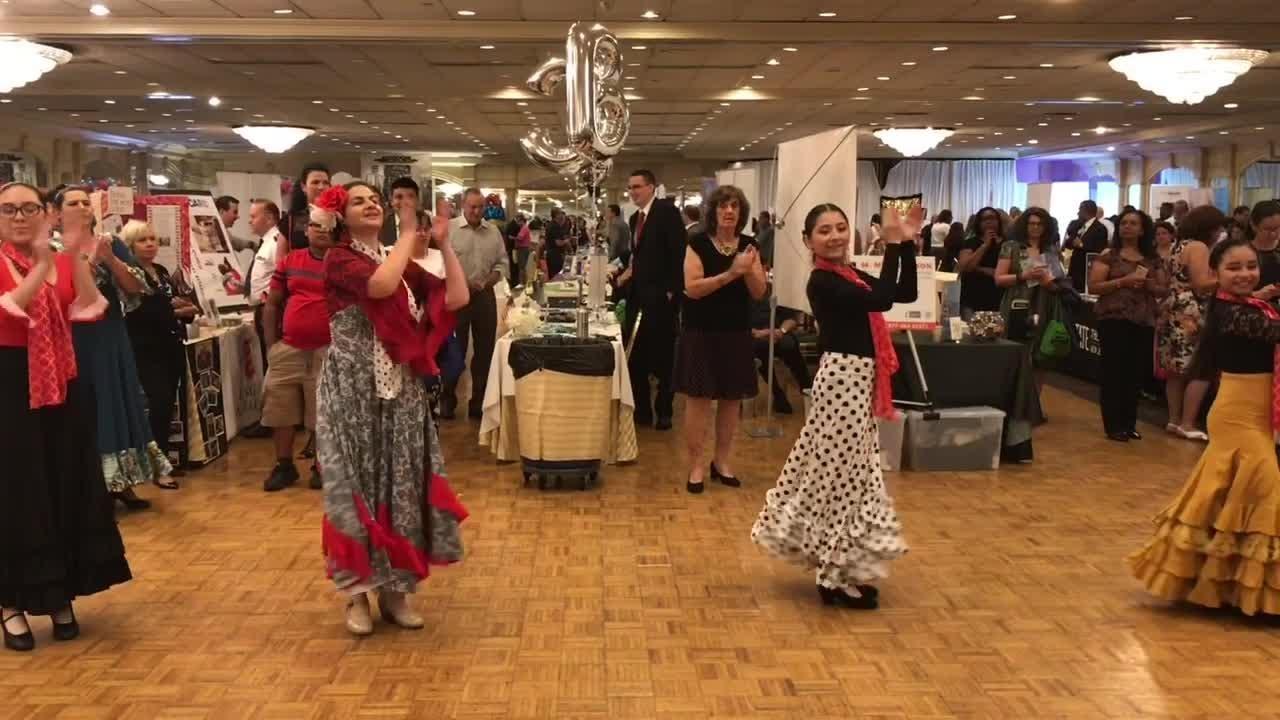 Ximena Salgado of Le Salsa in New York City and Woodbridge-based Alborada Spanish Dance Theatre perform at the Hispanic Business Expo on July 17