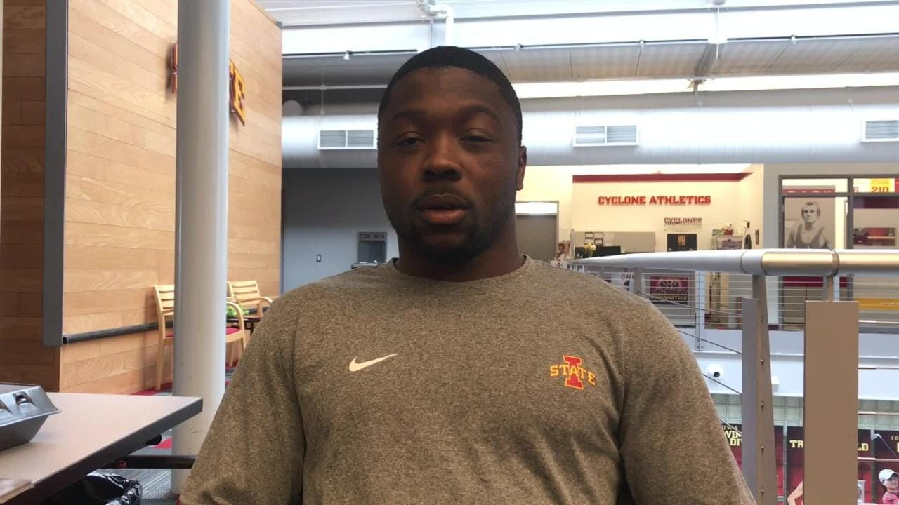 Iowa State running back Johnnie Lang is thankful for the opportunity the Cyclones have given him.