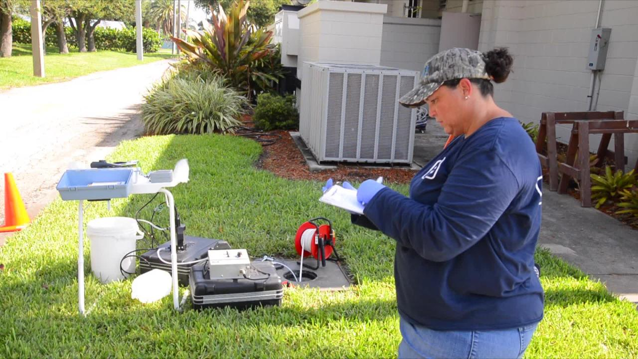 Three shallow wells were dug in Satellite Beach on Tuesday and on Wednesday samples were taken from the wells to be tested.