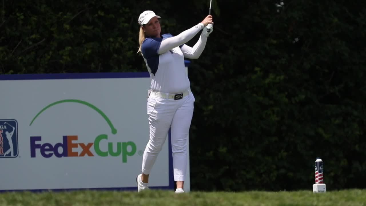 The power of LPGA golfer Brittany Lincicome's drives in slow motion