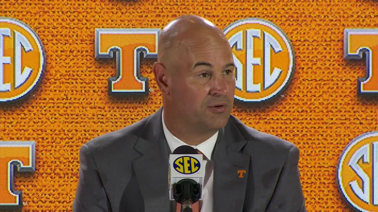 Tennessee football head coach spoke at the SEC media days on July 18, 2018