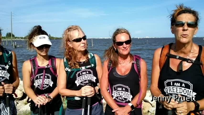 Five Cocoa Beach hiker will take part in an extreme endurance hike next month to raise money for victims of sex trafficking.