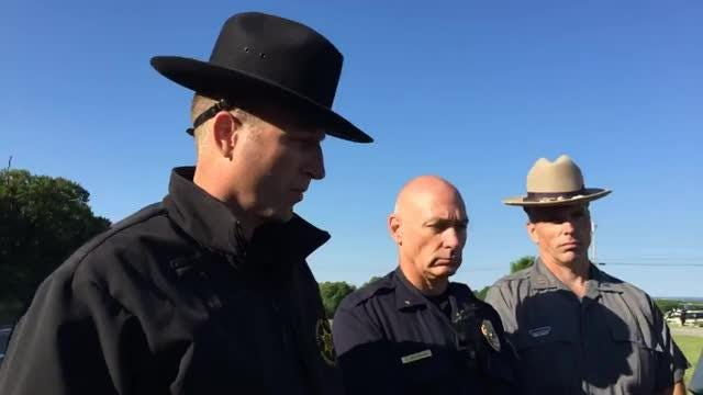 """Livingston County Sheriff Thomas J. Dougherty updates the search for  an  """"armed and dangerous""""  man.  The suspect is identified as  David Clyde Morgan, of Wilmington, North Carolina."""