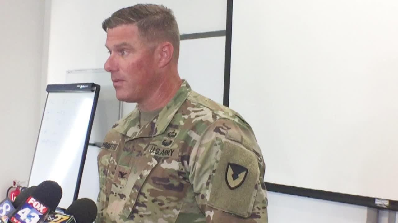 Col. Stephen Ledbetter provides an update on the incident that injured four workers, including three who were airlifted to a Baltimore hospital.